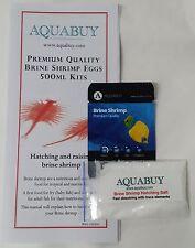 Brine Shrimp Eggs and Salt packs 500mL - 1 pack - Grow live fish food at home