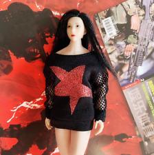"1/12 Scale Female Soldier Clothes Black Fashion Fleece F 6"" Action Figure"