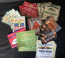 28 Vintage Soda Pop Bottle Product Labels CLINTONIC STEINS CALIFORNIA BEST ~ YGF