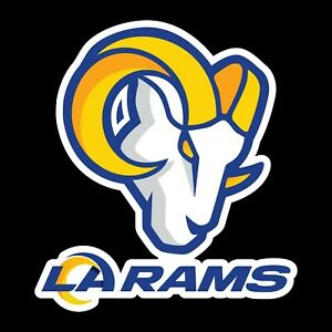 Los Angeles Rams New Logo 2 PACK Decal Sticker - You Choose Size - FREE SHIPPING