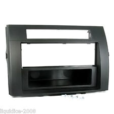 CT24TY15 TOYOTA COROLLA VERSO 2004 to 2007 BLACK SINGLE OR DOUBLE DIN FASCIA