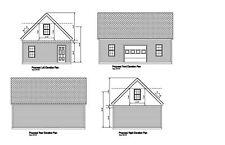 20X30 -GARAGE PLAN - GABLE ROOF 30 x 20 GARAGE PRINT BLUEPRINT PLAN #17-2030-GBL