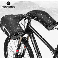 RockBros Winter Cycling Thickened Gloves Windproof Handlebar Warm Mittens