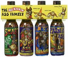 Ass Kickin' The Ass Family Hot Sauce 4 Pack  *Great Gift set, Brand New*