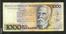 BRAZIL-BANCO CENTRAL DO BRASIL 1,000 MIL CRUZADOS *0160A PAPER MONEY