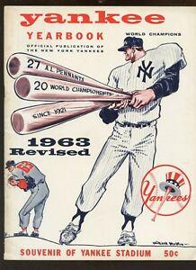 1963 MLB New York Yankees Revised Yearbook EX+