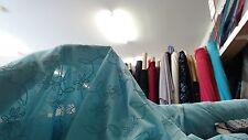 CLEARANCE $5/m x 5m50 Gliter poly interlock stretch knit, aqua color 1m50 w