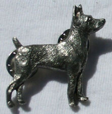 Rat Terrier Dog Fine Pewter Pin Jewelry Art Usa Made