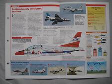 Aircraft of the World Card 129 , Group 5 - Kawasaki T-4