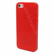 RED FROST CLEAR Thin TPU GEL Case Cover For Apple iPhone 5 5G 5S  iPhone5  SE