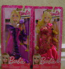 BARBIE SPARKLY GOWN FASHION CLOTHES  LOT OF 2 W/ ACCESSORIES  *NEW*