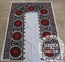UZBEK SILK HAND EMBROIDERED SUZANI JOYPYSH # 8477