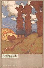 c.1905 Kapelle Germany post card artist sgd. Ernst Liebermann Art Nouveau