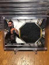 2019 Topps UFC/Knockout ~ ISRAEL ADESANYA JUMBO RELIC CARD!!! None Auto /99