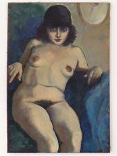 Magnifique Peinture Fauve, Huile sur Toile, nu, nue, art érotique, erotic
