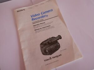 GENUINE SONY VIDEO RECORDER CCD-TR350E TR450E INSTRUCTION MANUAL