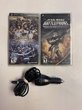 Final Fantasy Dissidia 012 PSP CIB And Star Wars BattleFront CIB + Car Charger.