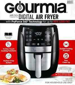 Gourmia 6 Quart Digital Air Fryer FryForce 360 Easy Clean-Up GAF698 #833USED