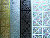 Decorative Corners Peel Off Sticker Sheet For Card Making Craft Choice Colours
