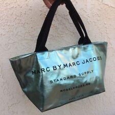 Gorgeous Mermaid Metallic Blue Marc Marc Jacobs Standard Supply Tote Bag Purse
