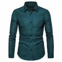 Camisa casual para hombre Camisas de manga larga de moda Ropa de hombres suave