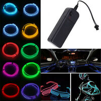 1/2/3/4/5M Cool LED Neon Light Glow EL Strip Tube Cool Wire Rope Home Car Decor