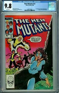 NEW MUTANTS #13 CGC 9.8 WP 1st CYPHER MAGMA  NEW NON-CIRCULATED CGC CASE MARVEL