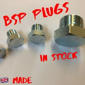 BSP blanking solid plugs for hydrailic hoses pumps valves and rams UK made