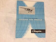 Champion Sky-Trac Traveler Brochure Private Aircraft 50's 60's Vintage Airplane