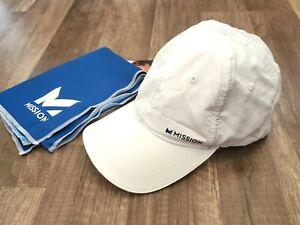 MISSION HYDROACTIVE WHITE CAP/HAT + BLUE TOWEL NEW