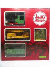 LGB 20501 Güterzugpackung mit Dampflok Stainz + 2 Wagen + Gleise + Trafo in OVP
