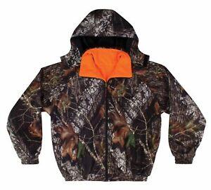 Winchester Reversible Waterproof Rain Jacket S-2XL Camo Mossy Oak Blaze Orange