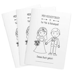 3er Set Hochzeitsmalbuch Sweet Gastgeschenk, Kinder, Malbuch, Hochzeit, Vintage