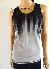 X by Gottex Black Ombre Workout Yoga Athletic Sport Tank Top  Sz. XS ~ S ~ M ~ L