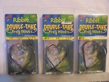 New listing 3 Packs Ribbit Double Take Frog Hooks (2) #5 & (1) #6 Both 1/8 Oz