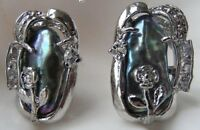 schöne Art und Weise kultiviert schwarz Biwa Perle Partei Blume Ohrringe