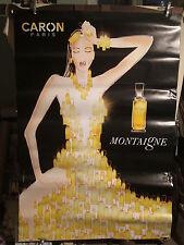 AFFICHE parfum CARON  FEMME FLACONS  BELLE
