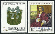 Czechoslovakia 2238-2239, MNH. Prague Castle Art. Burial Crown, Portrait, 1979