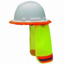 Pyramex Hi Vis Yellow Hard Hat Neck Shade Fits Cap Style And Full Brim Hard Hats