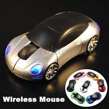 Ratón inalámbrico Coche USB Receptor Wireless Optical Mouse Mice Laptop PC MAC