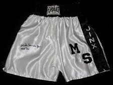 MICHAEL SPINKS AUTOGRAPHED BOXING TRUNKS (JINX) - JSA COA!