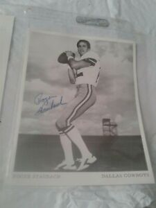 ROGER STAUBACH Signed Photo Autographed 5x6.5 NFL FOOTBALL Dallas Cowboys #2