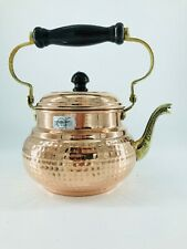 Teiera artigianale in rame uso in cucina bollitore per the e tisane acqua calda