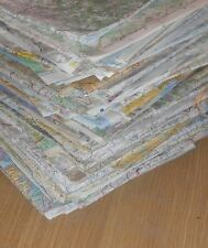 Reclaimed Recycled Paper - Folded Scrap Map Sheets x10