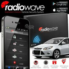 RADIOWAVE GSM GPS Smartphone Remote Car Alarm System Android & iPhone Anti Theft