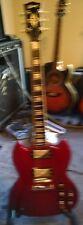 Custom Built SG Cherry Guitar, Epiphone ProBucker Pickups w Gibson USA Gig Bag