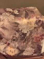 "Croscill Marissa Damask Fabric Shower Curtain Pink Green Gold 71x76"""