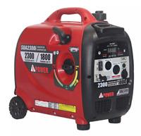 Portable Lightweight 2300 Watt Gas Generator Inverter Digital LED Fuel Gauge