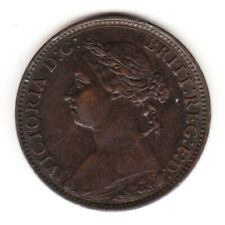 1890 Great Britain Queen Victoria 1 One Farthing.  High Grade.