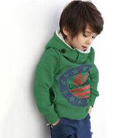 Kids Boys Girls Cartoon Hoodie Sweatshirt Coat Hooded Jacket Jumper Sweater Tops